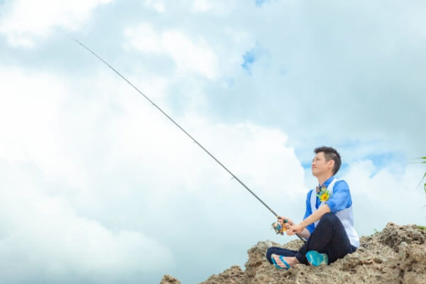 釣り好きな男性