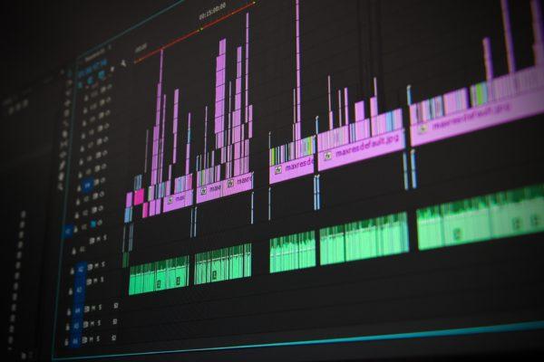 動画編集ソフトの画面