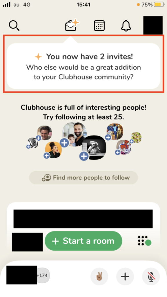 Clubhouse(クラブハウス)の招待枠