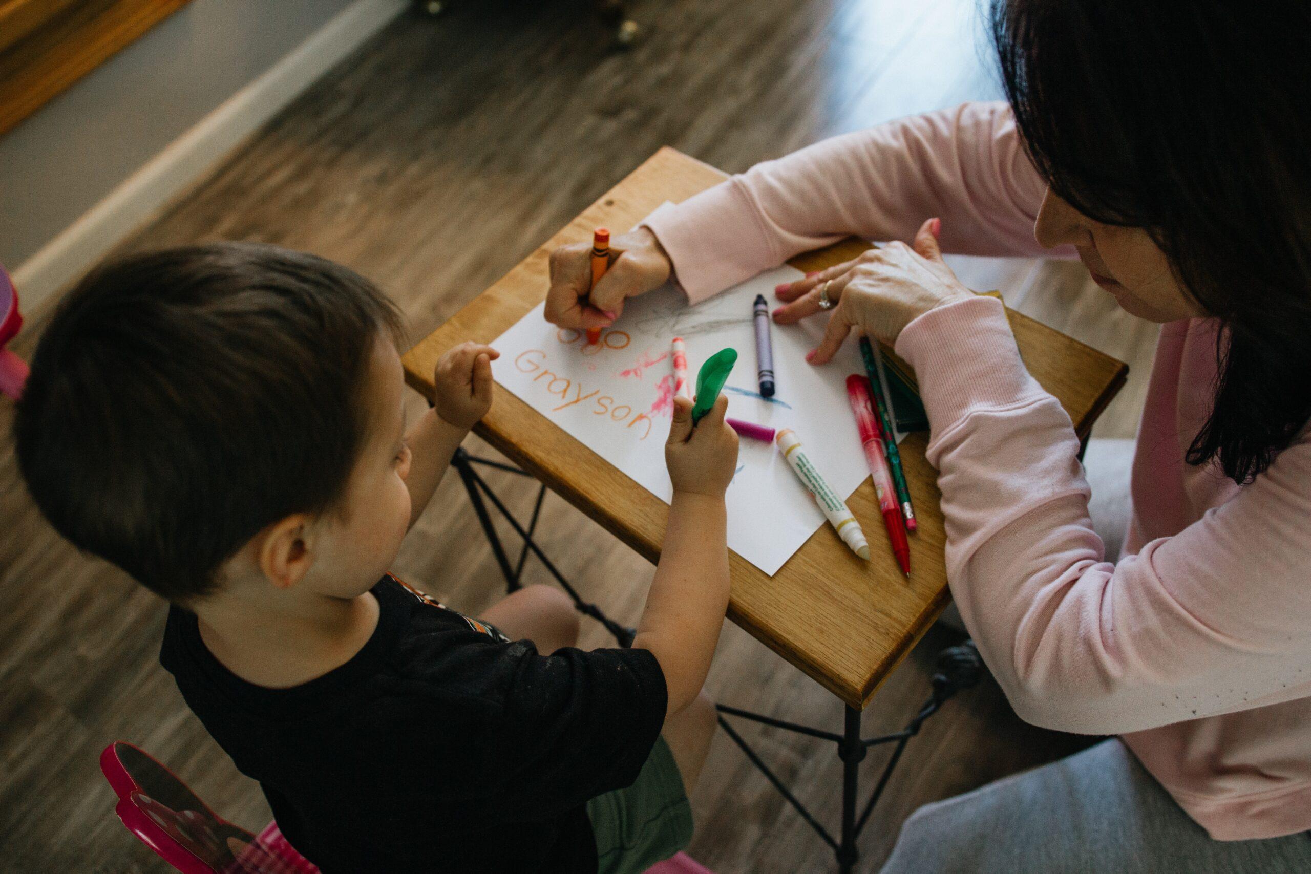 子ども お絵描き