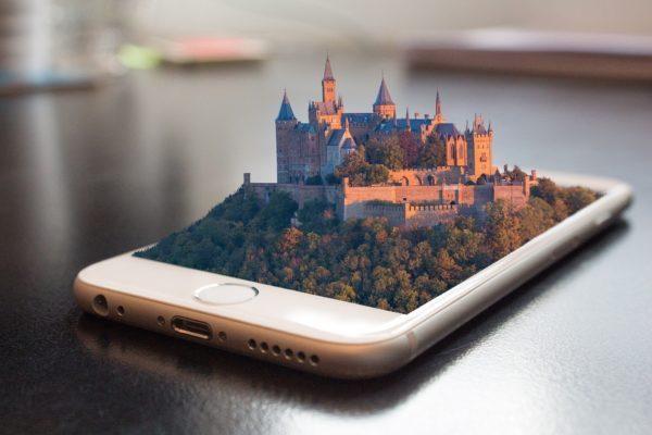 スマートフォンのなかにある城